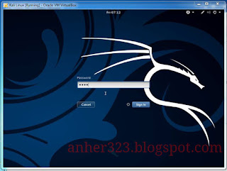 Kali linux password login