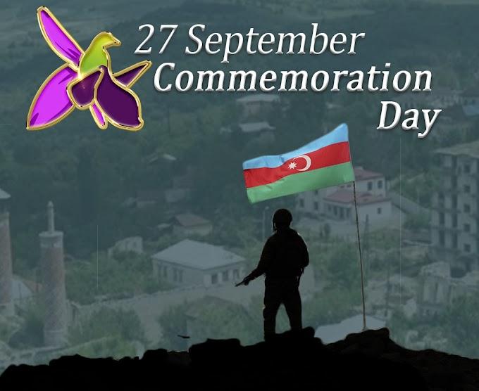 Internacional: 27 de setembro - Dia da Comemoração na República do Azerbaijão