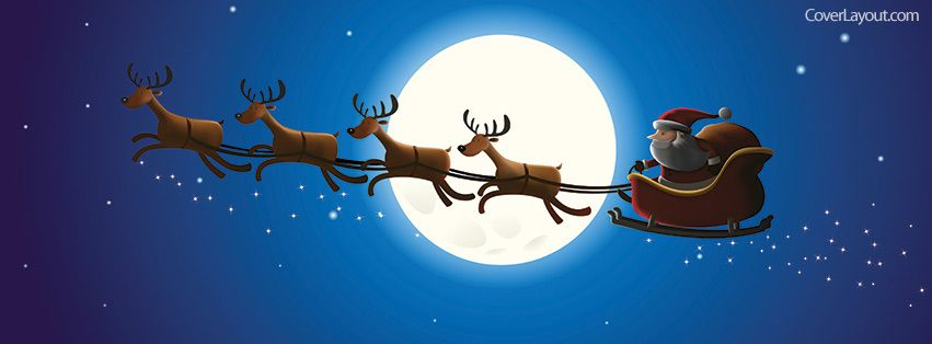 Christmas with Santa Facebook Cover