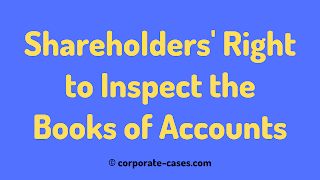 shareholders right to inspect books of accounts