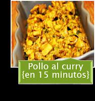 POLLO AL CURRY EN 15 MINUTOS