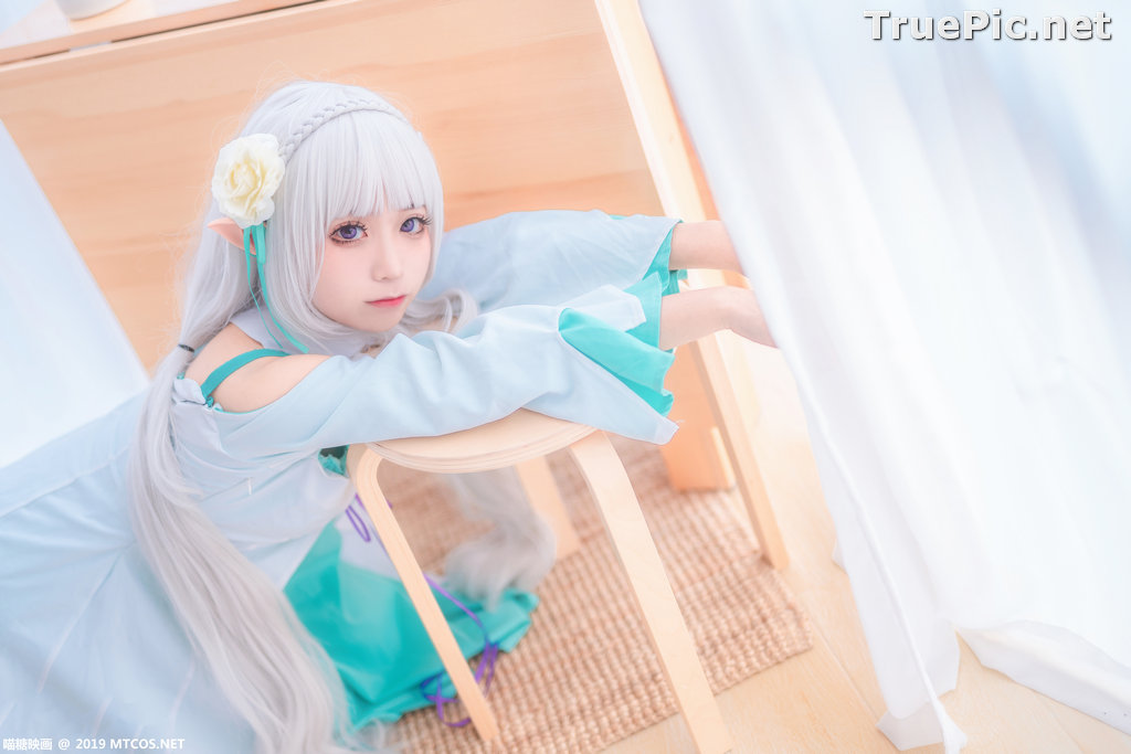 Image [MTCos] 喵糖映画 Vol.020 – Chinese Cute Model – Re:Zero Emilia Cosplay - TruePic.net - Picture-10