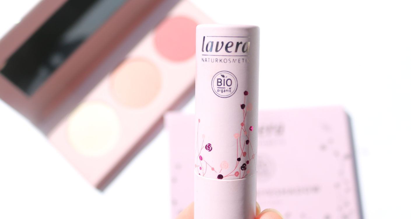 Lavera Limited Edition Natural Lipstick in Rosy Pastel review swatches