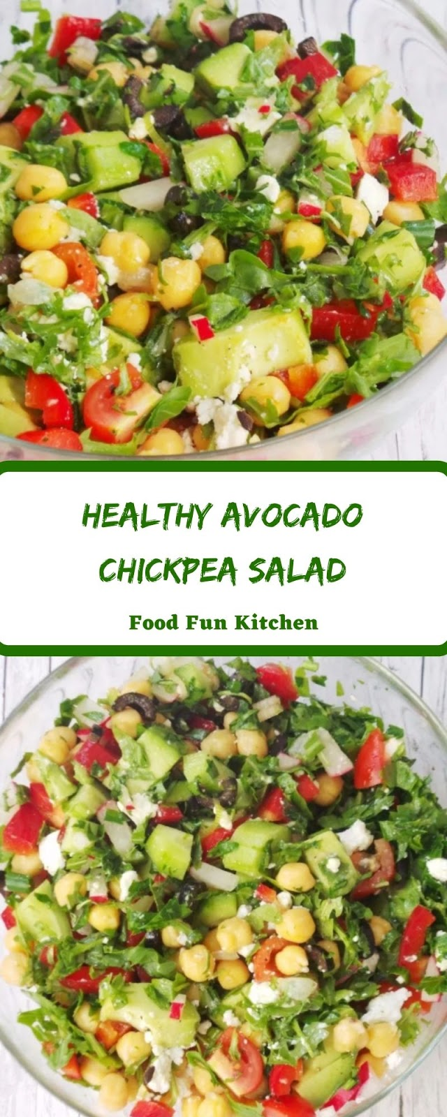 HEALTHY AVOCADO CHICKPEA SALAD