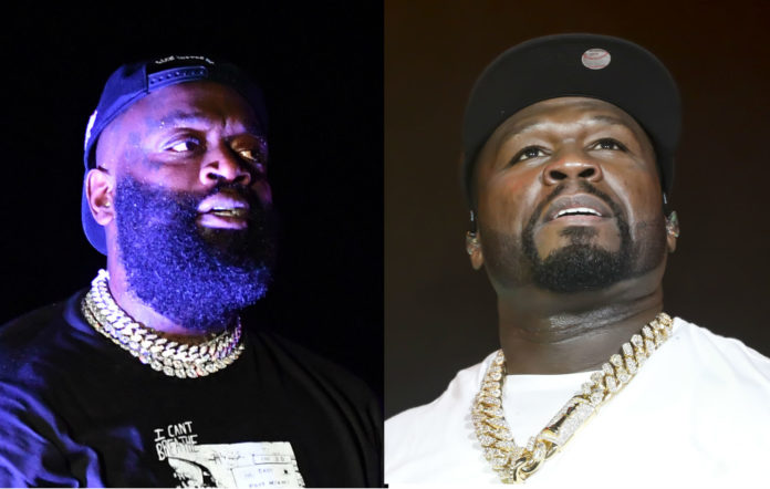 Rick Ross says he'll clear 'BMF' for use in 50 Cent show if rapper promotes his chicken wings #Arewapublisize