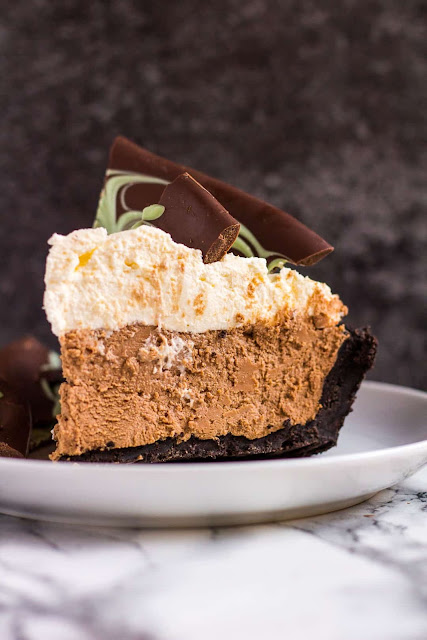 no bake mint chocolate cream pie