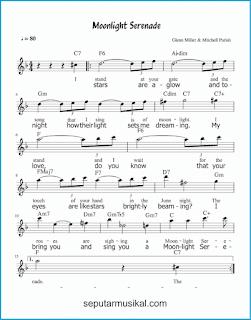 chord moonlight serenade lagu jazz standar