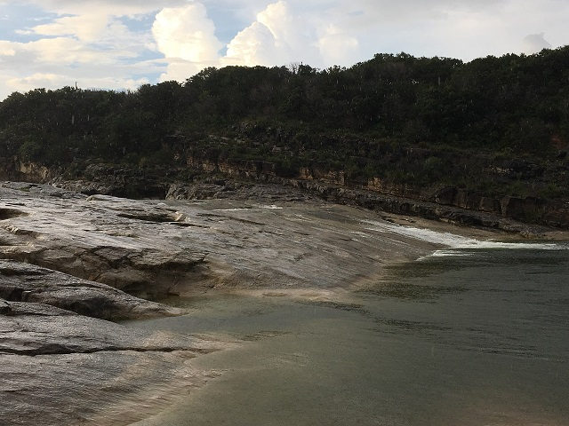 Hiking and swimming at Pedernales Falls State Park