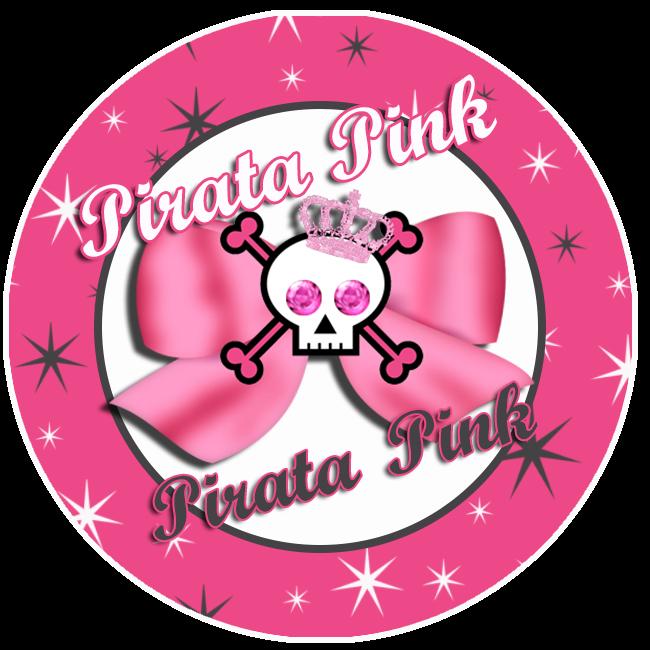 Toppers o Etiquetas de Pirata Rosa para imprimir gratis.