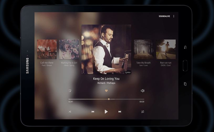 Samsung Galaxy Tab S3 speaker system