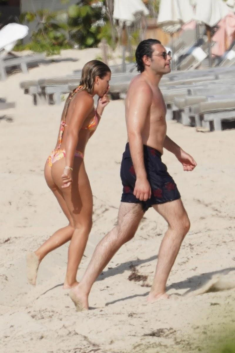 Sofia Richie Clicked in Bikini and Elliot Grainge at a Beach in St Barts 18 Apr-2021