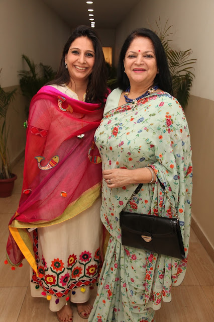Divya Chauhan with Amita Chauhan, Chairperson of Amity University -2