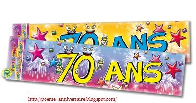 Message Anniversaire 70 Ans
