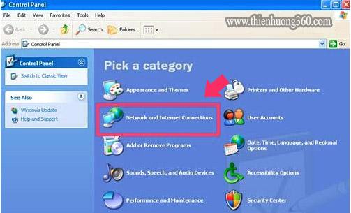 Cách đổi DNS để vào Facebook Windows XP - Bước 2