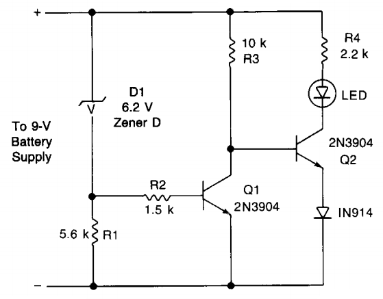 Simple Voltage Monitor Circuit Diagram