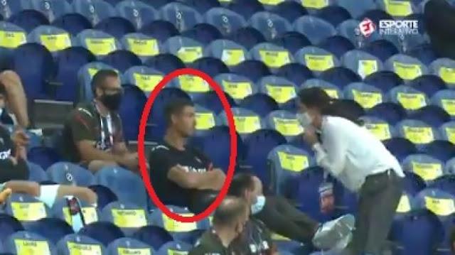 Cristiano Ronaldo Kena Tegur Gara-gara Tak Pakai Masker, Lihat Videonya