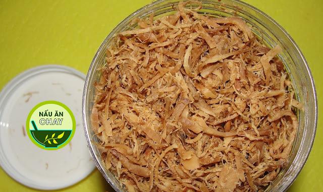 Cách làm chà bông nấm hương chay (ruốc nấm hương)
