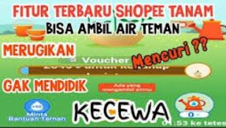 Cara Mengambil Air Shopee Tanam