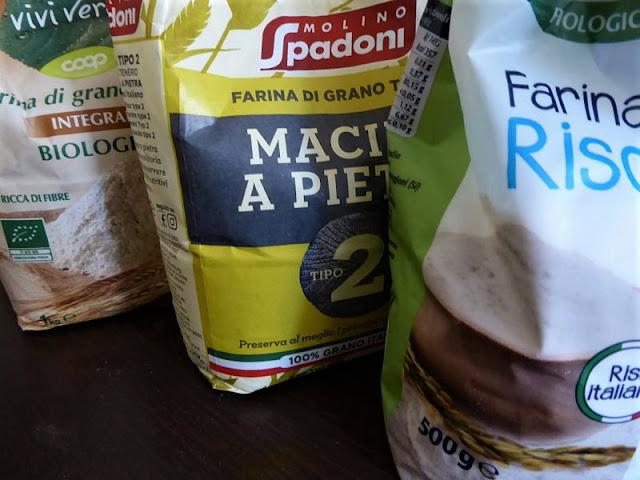 diversi tipi farina di cereali