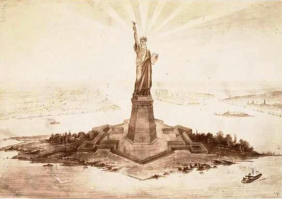 Dibujo de la estatua de la Libertad