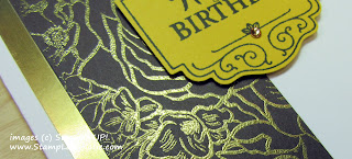 Birthday card made with Stampin'UP!'s Breathtaking Bouquet stamp and Label Me Pretty Punch