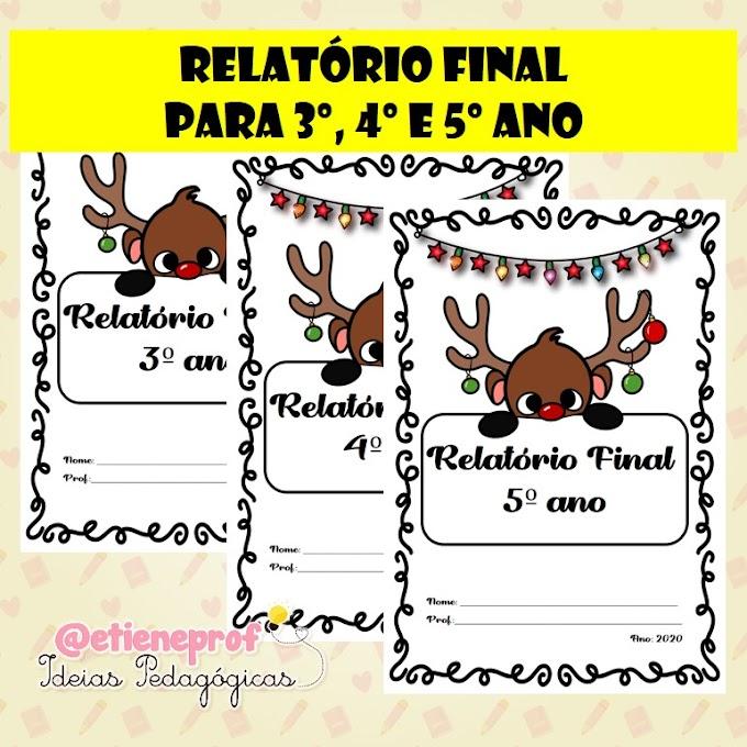 RELATÓRIO FINAL PARA 3º, 4º E 5º ANOS