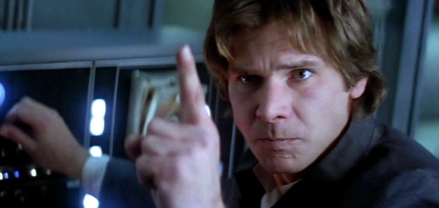 Harrison Ford în Star Wars: The Empire Strikes Back - never tell me the odds -