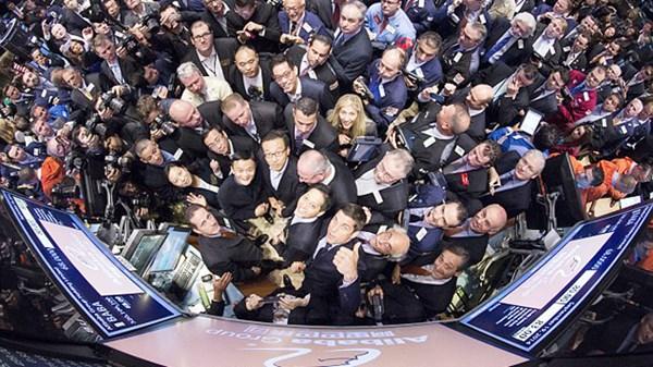 Jack Ma tai NY Stock Exchange today YGYF.jpg - Tỷ phú Jack Ma vốn là người dốt toán