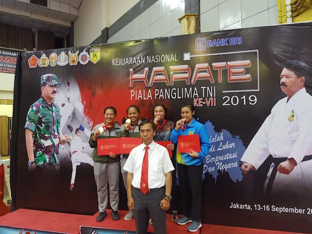 Mabes AD Pimpin Sementara Perolehan Medali Kejurnas Karate Panglima TNI Ke-VII