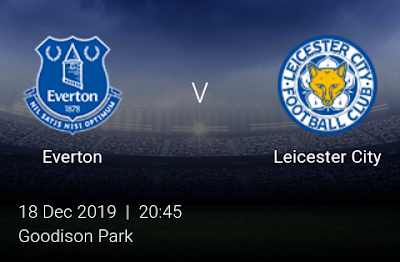 LIVE MATCH: Everton Vs Leicester City League Cup 18/12/2019