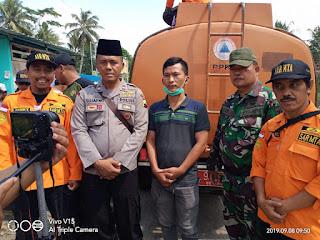 Serka Slamet dan Majelis Tafsir Al'Quran Dampingi BPBD Cilacap Distribusikan Air Bersih