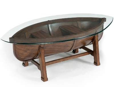 Solid Wood Boat Coffee Table
