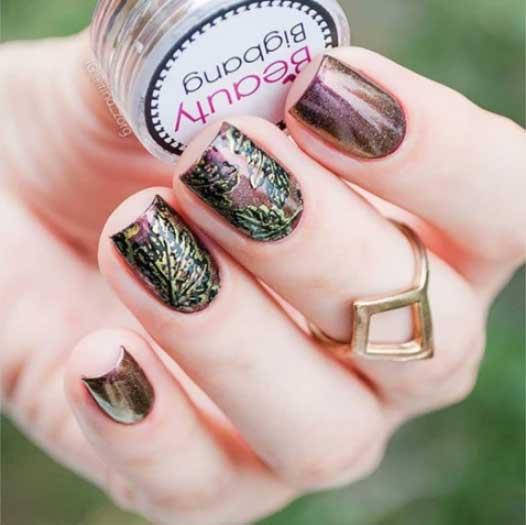 autumn nails art