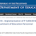 DO 05, s. 2018 - Implementation of P 5,000.00 Net Take Home Pay for Department of Education Personnel