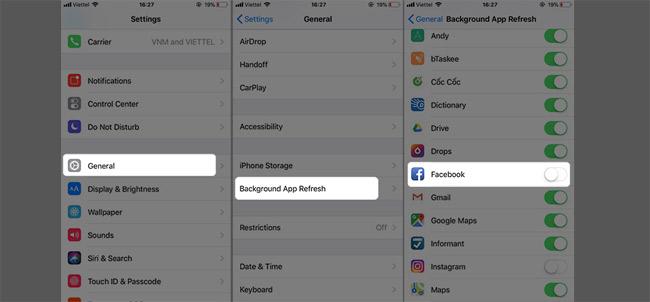 Hướng dẫn tiết kiệm pin khi dùng Facebook trên điện thoại Iphone