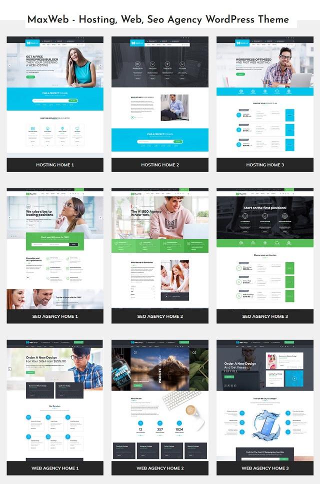 Hosting & SEO Agency WordPress Template