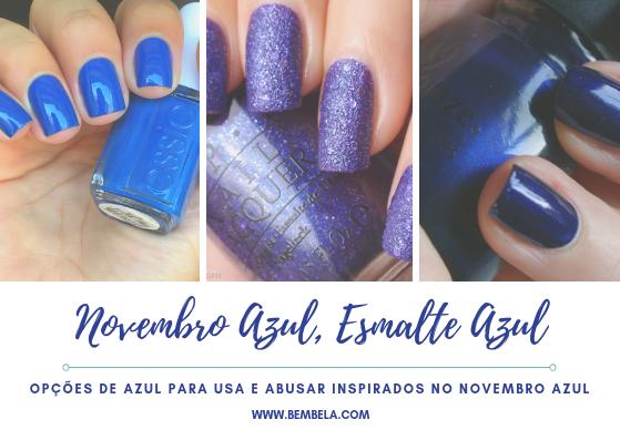 """O esmalte azul pode ser usado por qualquer pessoa desde que você escolha o tom certo. Variando entre """"blues"""" claros ao néon, existem inúmeras variações disponíveis. Aqui estão algumas tonalidades de esmalte azul bonito para você experimentar em suas unhas nesta temporada:"""