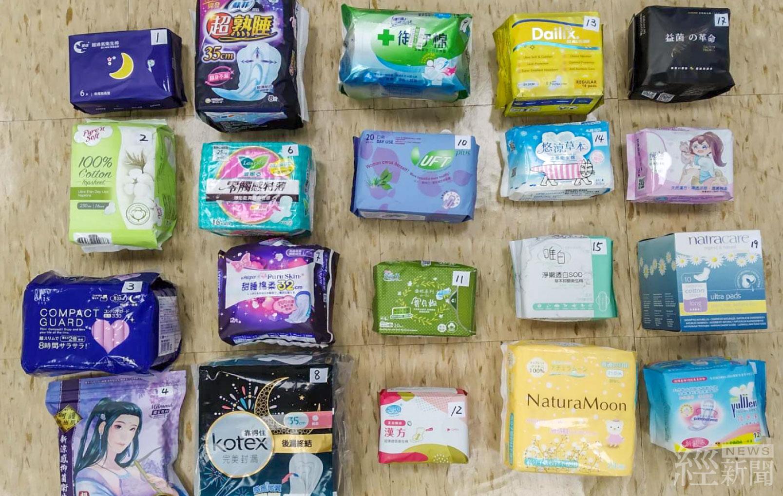 市售衛生棉檢測 1項品質不合格