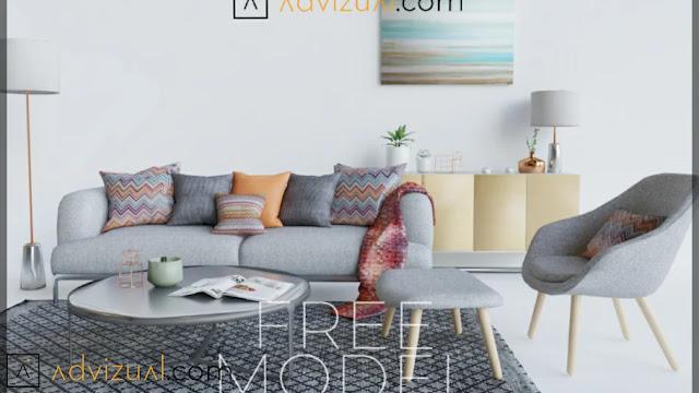 Sofa Sketchup Model , 3d free , sketchup models , free 3d models , 3d model free download