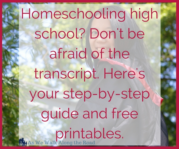 Creating a homeschool high school transcript with free printables