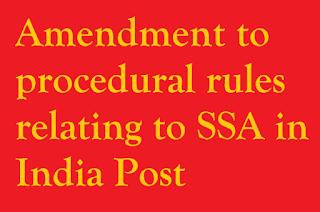 Amendment to procedural rules relating to Sukanya Samriddhi Account Scheme