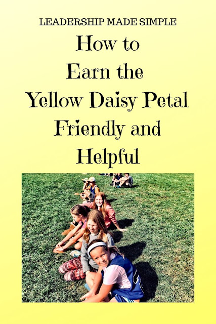 Fun Activity to Earn the Yellow Daisy Petal Friendly and Helpful