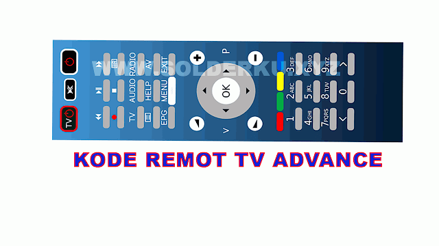 KODE REMOT TV ADVANCE