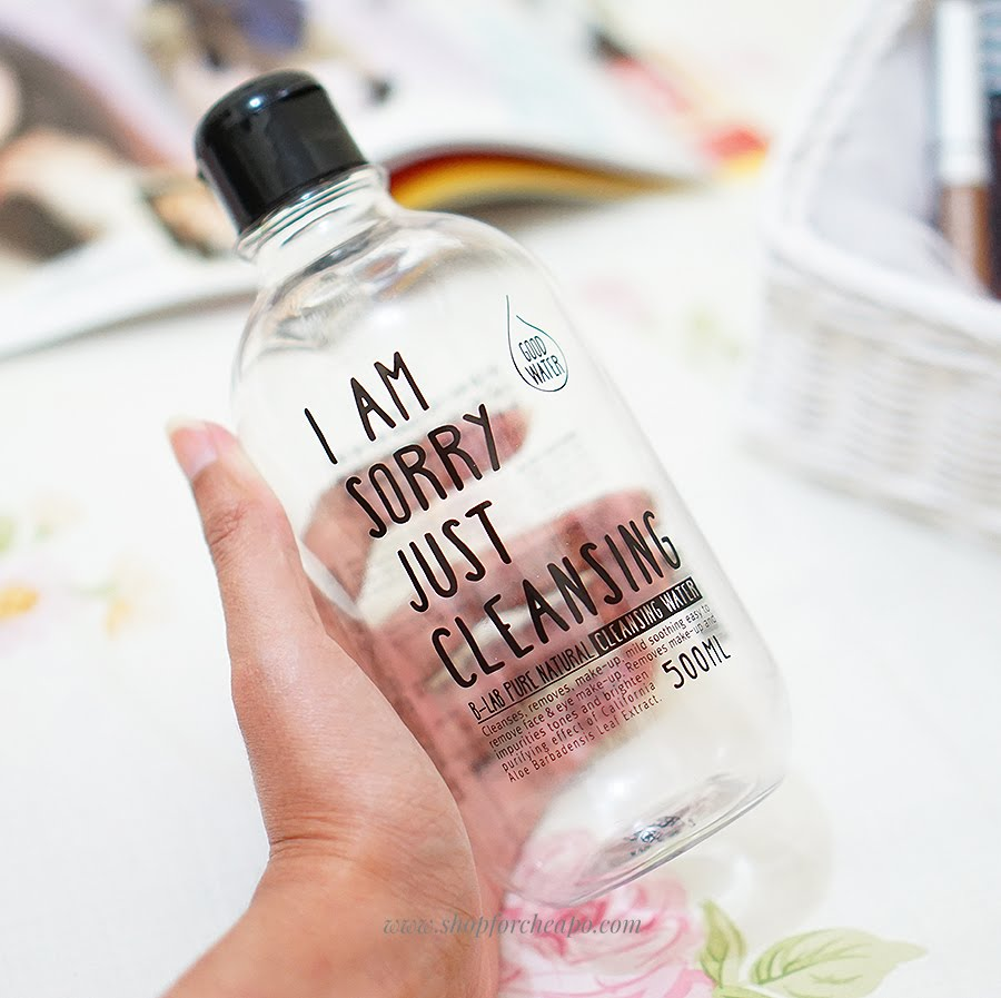 b-lab pure natural cleansing water i am sorry just cleansing