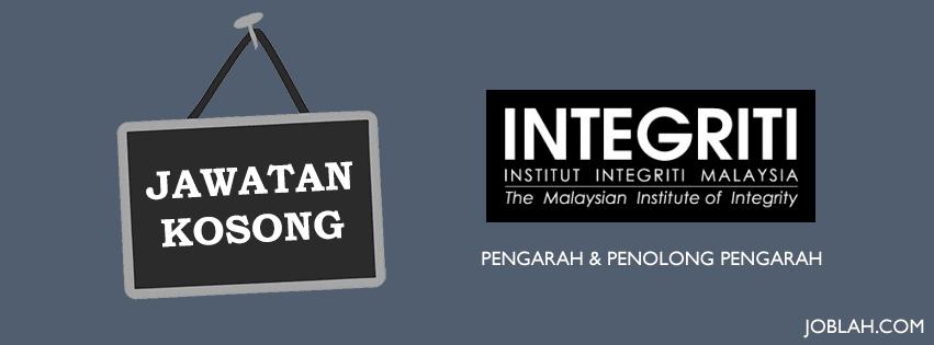 Jawatan Kosong 2017 Pengarah & Penolong Pengarah Institut Integriti Malaysia