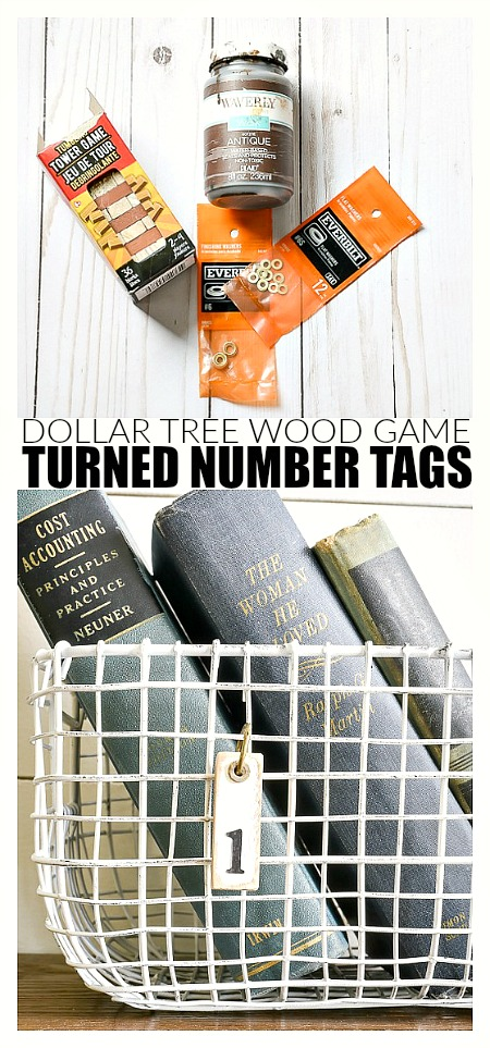 Easy DIY Dollar Tree number tags