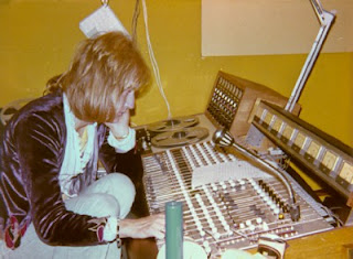 Rob Boughton (engineer) at the 8-track recording desk