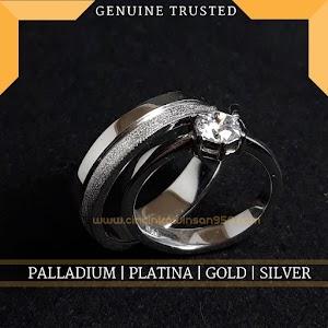 cincin kawin emas putih dan perak 617