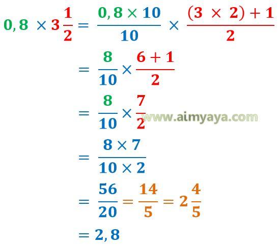 Contoh Soal Pecahan Kumpulan Soal Pelajaran 7