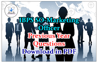 IBPS Marketing Officer Exam Previous Year Question Paper- Download in PDF